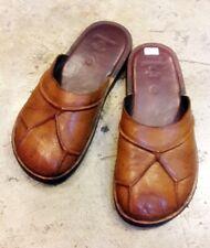 Brown Leather Boho Cover Flats Quality Handmade Flips Slipper Sandals Men Tomboy