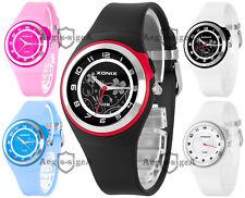 Analog women's wrist-watch XONIX, quartz, durable strap, acryl glass, WR100M