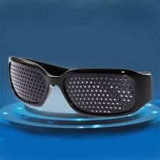Pinhole Glasses Black Eyesight Improvement Vision Care Exercise Eyewear M