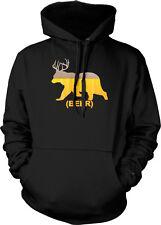 Beer Deer Bear Combined Foam Head Antlers Cross Between Animal Hoodie Sweatshirt