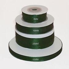 Hunter Green double faced satin ribbon 3mm 10mm 16mm 25mm 38mm width