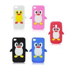 % Gel Silikon Tasche Case Hülle Cover PINGUIN 3D für iPHONE 4 4S 4G Schutzhülle