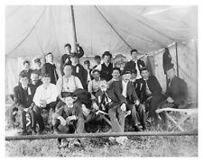 Circa 1905 Silver Halide Group Photo Of Brampton Band ( Ontario ) At Welland