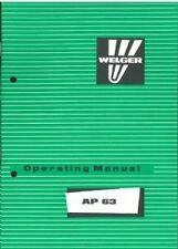 WELGER BALER AP63 OPERATORS MANUAL