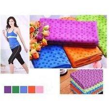 "Microfiber Non Skid Yoga Towel Mat-Size (24""x72"") W/ Carry Bag in Multi Colors J"