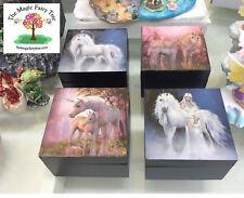 10cm epoxy resin trinket jewellery decorative unicorn box