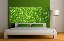Papier peint tête de lit Gouttes sur fond Vert 3631 Art déco Stickers