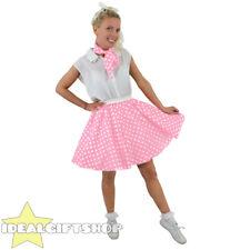 SHORT BABY PINK POLKA DOT SKIRT FANCY DRESS ROCK N ROLL 1960 STANDARD PLUS SIZE