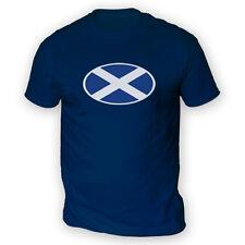 Scottish Flag Mens T-Shirt -x13 Colours- Football Rugby Glasgow Edinburgh