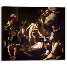 Caravaggio martirio di san Matteo quadro stampa tela dipinto telaio arredo casa