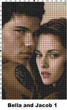 Twilight's Bella and Jacob Cross Stitch Patterns