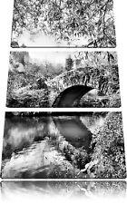 Brücke Central Park Herbst 3-Teiler Leinwandbild Wanddeko Kunstdruck