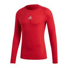 Adidas Alphaskin Camicia Sport Maniche Lunghe Rosso