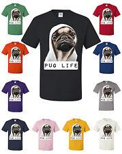 Pug Life T-Shirt Dope Thug Life Dog Parody Hipster Hip Hop Gangsta