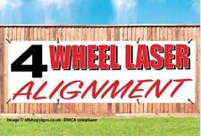 4 RUOTA LASER Alignment inseguimento auto Garage Sign Banner PVC con occhielli 001