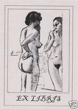 EX LIBRIS BOOKPLATE Roro' allo Specchio