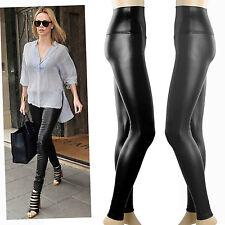 New gloss black high waist leather look leggings  Au 6 8 10 12 14
