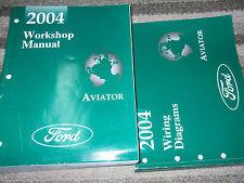 2004 FORD LINCOLN AVIATOR TRUCK SUV Service Shop Repair Manual Set W EWD OEM