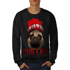 Wellcoda Cool Pug Meme Mens Sweatshirt, Swag Casual Pullover Jumper