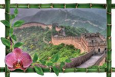 Sticker mural trompe l'oeil déco bambou Murail de Chine réf 1022
