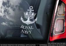 Royal Navy - Car Window Sticker - Military British Marine Anchor Army Decal -V02