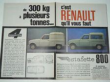 Dépliant RENAULT Utilitaires R4 4L Estafette Galion Goelette Brochure prospekt