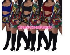 New  Women Three Piece Set Tracksuit T Shirt Tank Top+Shorts Pants +Long Sleeve