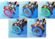 MTN Circuit 22mm Momentary Lock Waterproof Push Metal Switch Button Light 12V