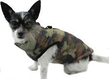 Hundejacke Hund Mantel XS S M L Weste Camouflage Braun Grün Neu Winter warm