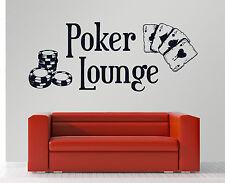 Poker Lounge - Kartenspiel Royal Flush Hobbyraum Casino Wandaufkleber WandTattoo