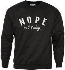 NO non oggi-scontroso Moody Tumblr Divertente vecchia Gioventù e Felpa da uomo