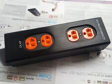 1x ck US AC Power Strip Bar Distributor HIFI Red Copper Socket 4 WAY out