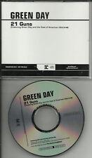 GREEN DAY 21 Guns w/ CAST RARE PROMO DJ CD Single 2011