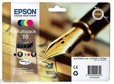 Epson 16 T1626 Multipack originale OEM Cartucce Di Inchiostro Set of 4 B,C,M & Y