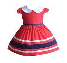 Cinda niña corto mangas verano vestido de fiesta en azul rojo 3 4 5 6 7 años