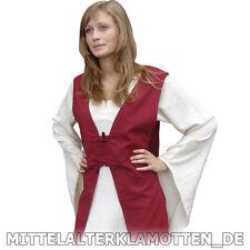 Mittelalter Über Kleid, 2 Fb. S-XXXL Burg Frauen Fräulein Kleid Mittelalterkleid