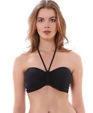 Freya Remix Swimwear Underwire Padded Bandeau Bikini Top Black AS3944 New Womens