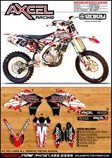 Axel  Yamaha Motocross Graphics YZF 450 2010-2013 Dirt Bike Graphics kit !