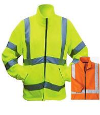 EN471 FLEECE JACKET REFLECTIVE Class 3 HIGH VISIBILITY Coat Orange or Yellow