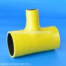 Silicone Hose T Piece Yellow SELECT SIZE Demon Motorsport (Black Core)