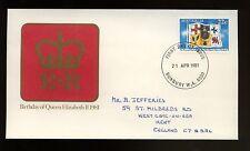 Australia 1981 QEII Birthday FDC