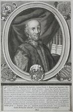 1713 Poppo I. vescovo cancelliere Würzburg Babenberger RAME chiave-ritratto Salver