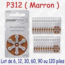 Pile VARTA pour Appareil Auditif : série 312 couleur MARRON par 1 6 30 60 90 120
