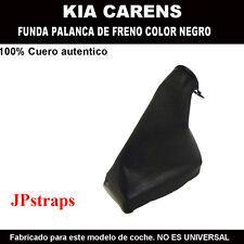KIA CAREN -  FUNDA PALANCA DE FRENO 100% PIEL NATURAL COLOR NEGRO