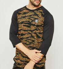 Adidas Originals Camo Tee 3/4 Sleeves Top New