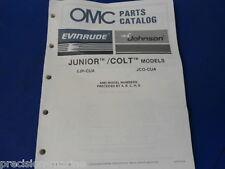 1987, Junior Colt Models OMC Evinrude Johnson Parts Catalog