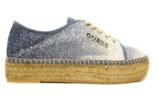 Guess fl2ren2fam13 blue scarpe basse lacci brillantini shoes woman zapatos
