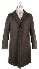 New $1600 Luigi Borrelli Brown Wool Melange Raincoat - (LB721173)