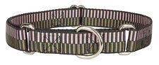 Country Brook Design® Porcelain Earth Regency Stripes Martingale Dog Collar