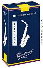 Twin Pack Vandoren Traditional Alto Saxophone Reeds 1.5 2 2.5 3 3.5 Free Del